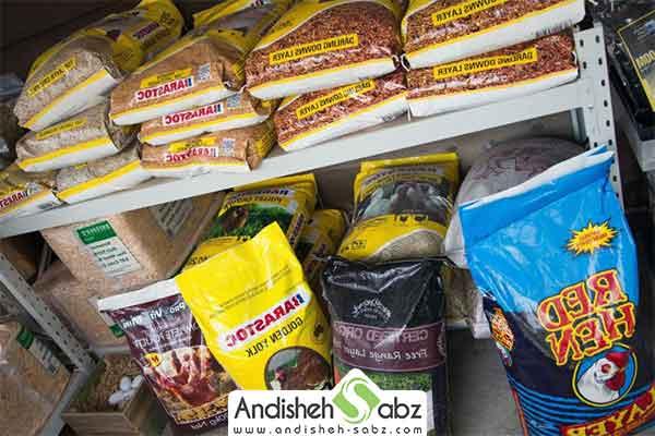 منابع غذایی برای دان مصرفی مرغ ها