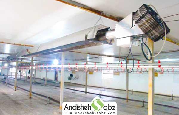 سیستم گرمایشی سالن پرورش طیور
