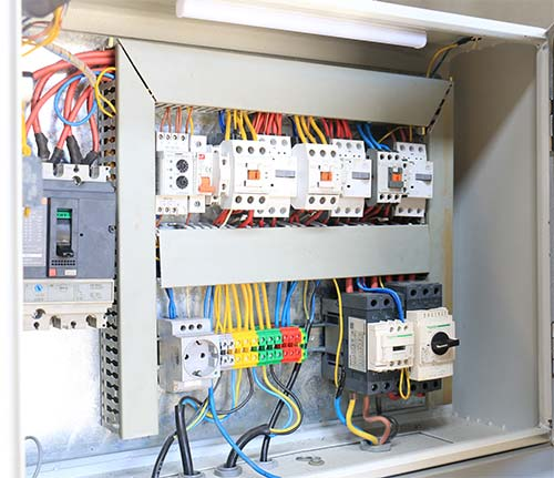 تابلو برق تمام اتوماتیک با قطعات تله مکانیک و اشنایدر