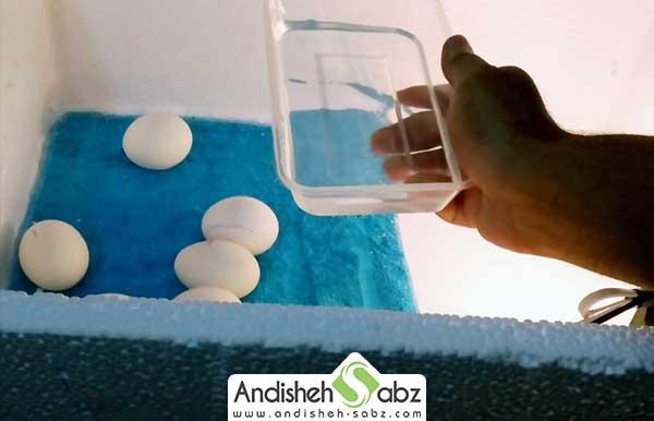 مرحله ظرف آب را در داخل یخدان
