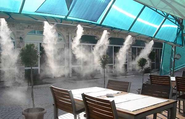 نکاتی در رابطه با انتخاب یک سیستم مه پاش رستورانی - فروشگاه اینترنتی اندیشه سبز