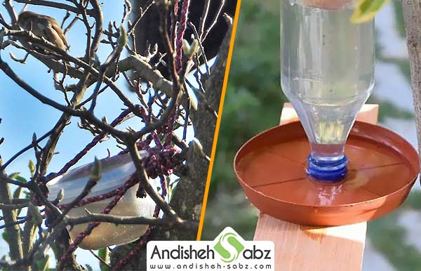 آموزش ساختن ابخوری پلاستیکی برای طیور و پرندگان - اندیشه سبز