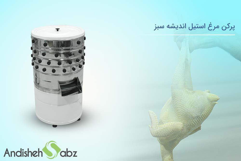 بررسی پرکن مرغ استیل اندیشه سبز