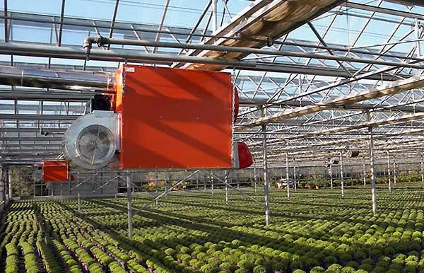 از چه تجهیزاتی جهت یکسان سازی دمای گلخانه صیفی جات