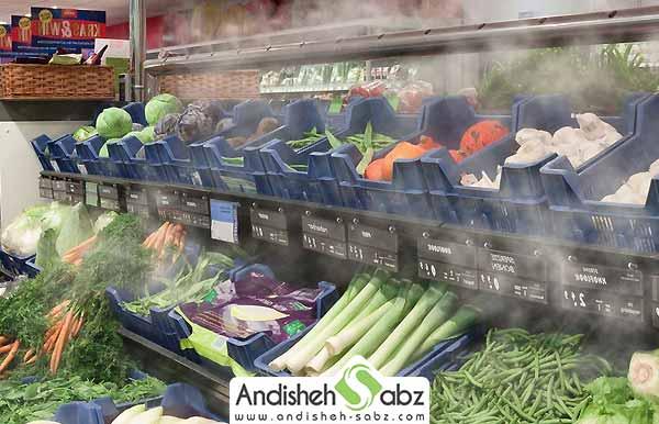 کاربرد مه پاش و رطوبت ساز در سالن های انبار میوه و سبزی - اندیشه سبز