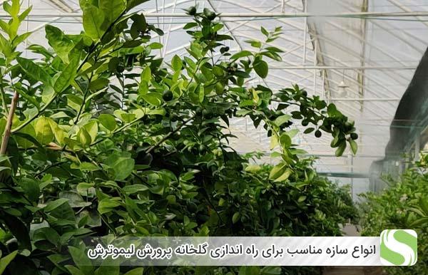 انواع سازه مناسب برای راه اندازی گلخانه پرورش لیموترش - اندیشه سبز