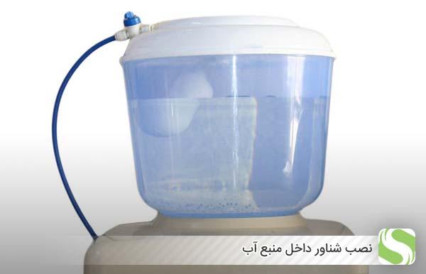 نصب شناور داخل منبع آب - اندیشه سبز